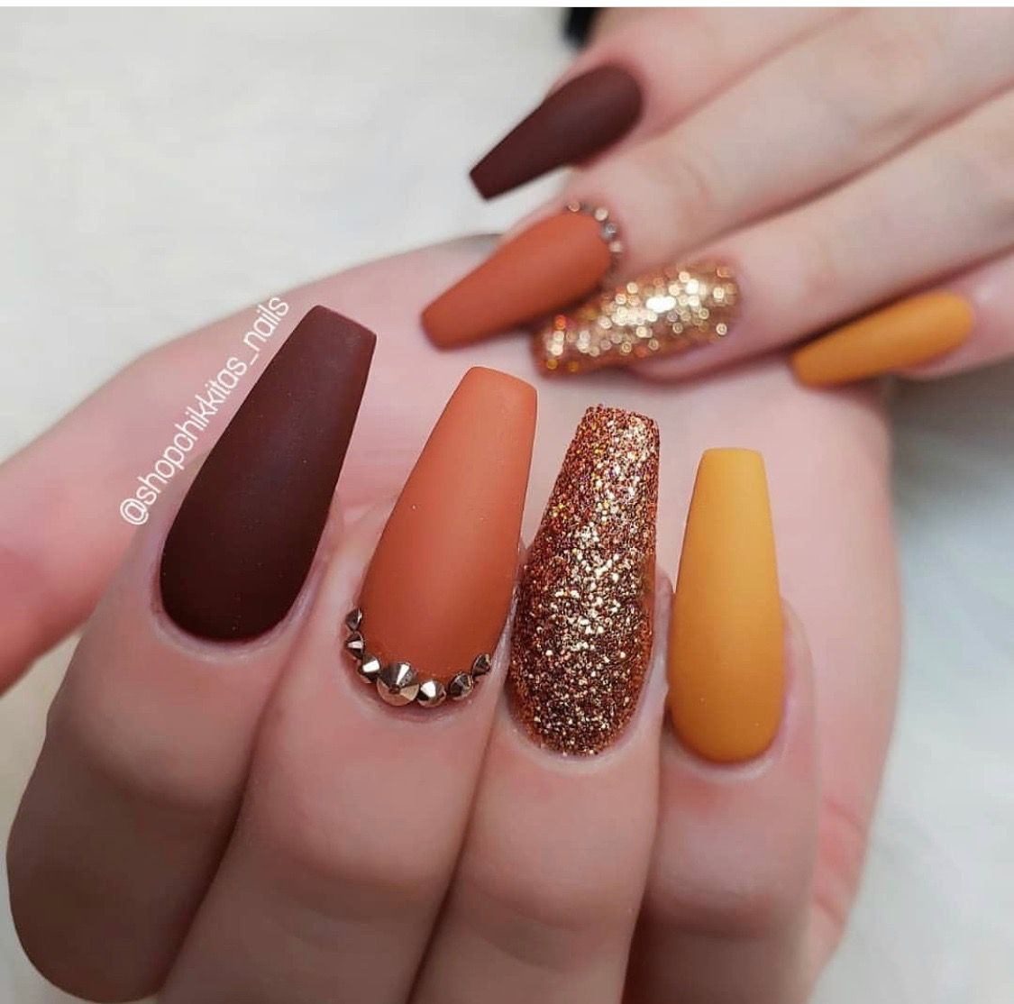 Pinterest Sanell M Fall Acrylic Nails Solid Color Nails Fall Nail Art Designs