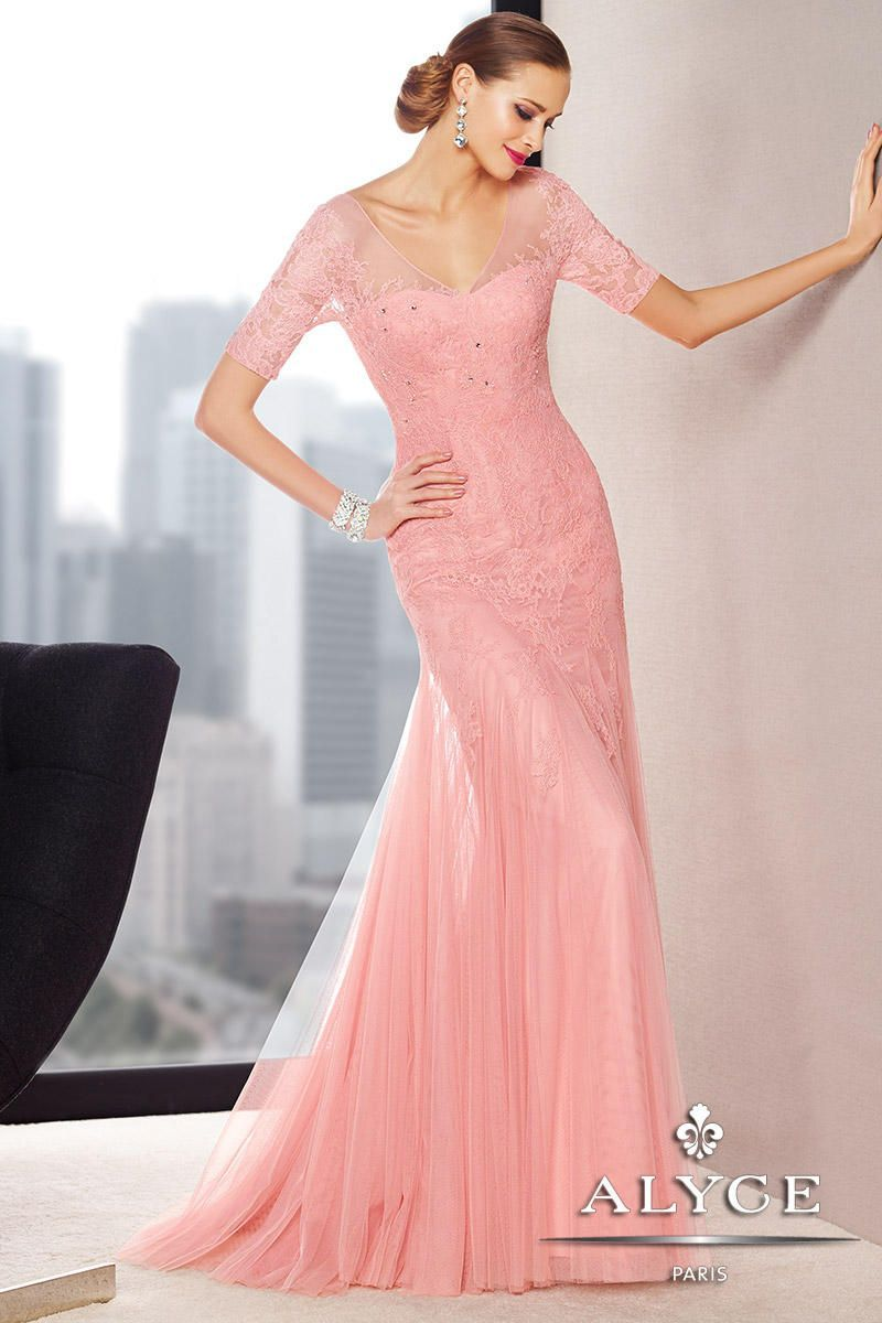 Alyce jean de lys lace mermaid mothers dress tiffany and