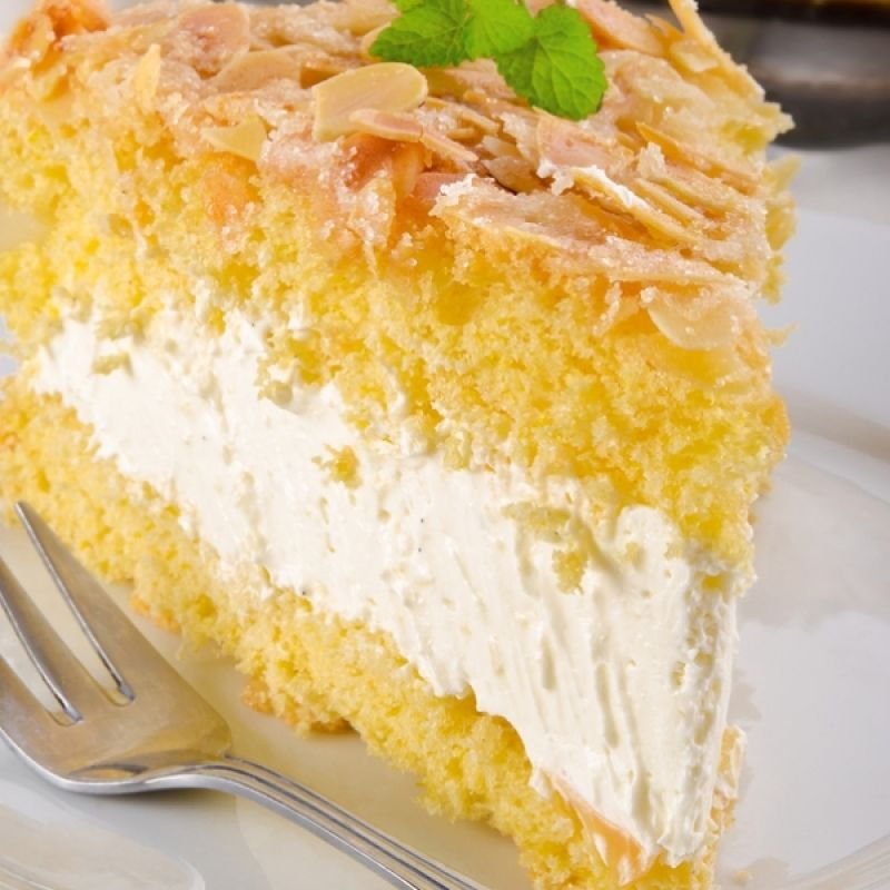 A Delectable Bavarian Cream Filled Cake Recipe Topped With Yummy