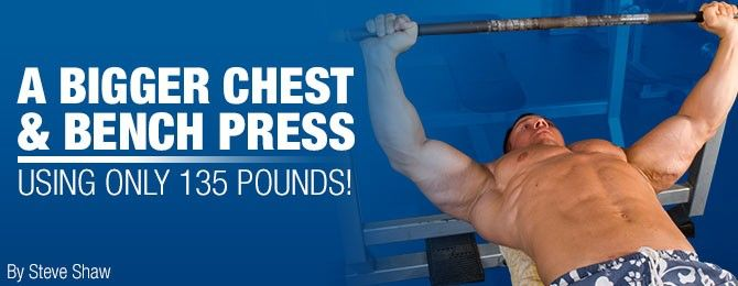 A Bigger Bench Press Chest Using Only 135 Pounds Really Bench Press Bodybuilding Motivation Big Muscles