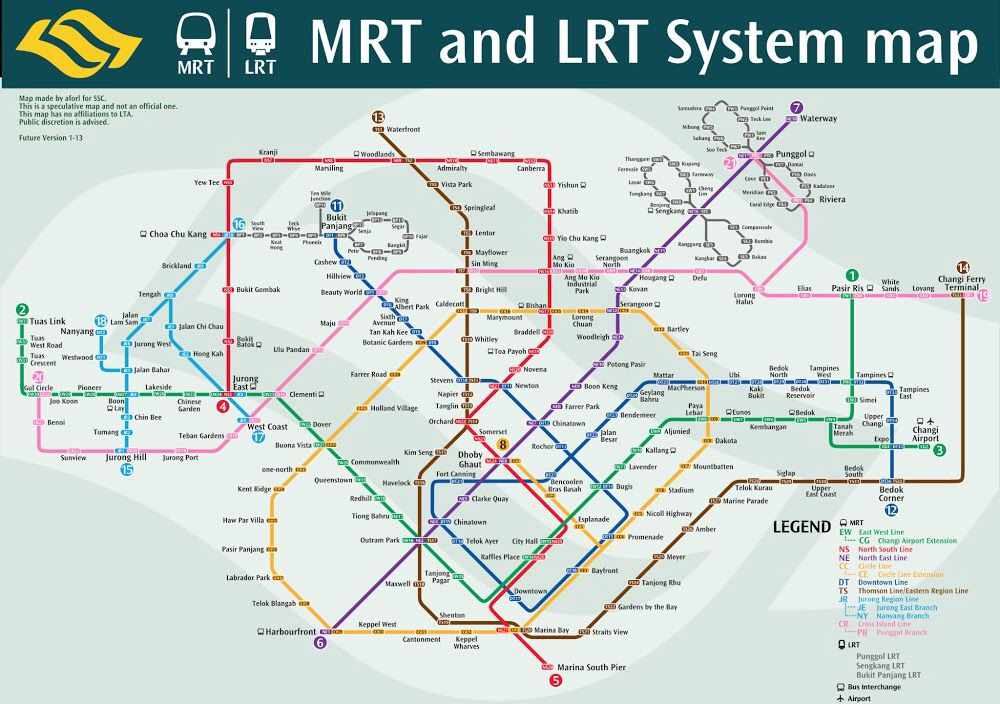 Mrt Line By 2030 Mrt Singapore Rapid Transit