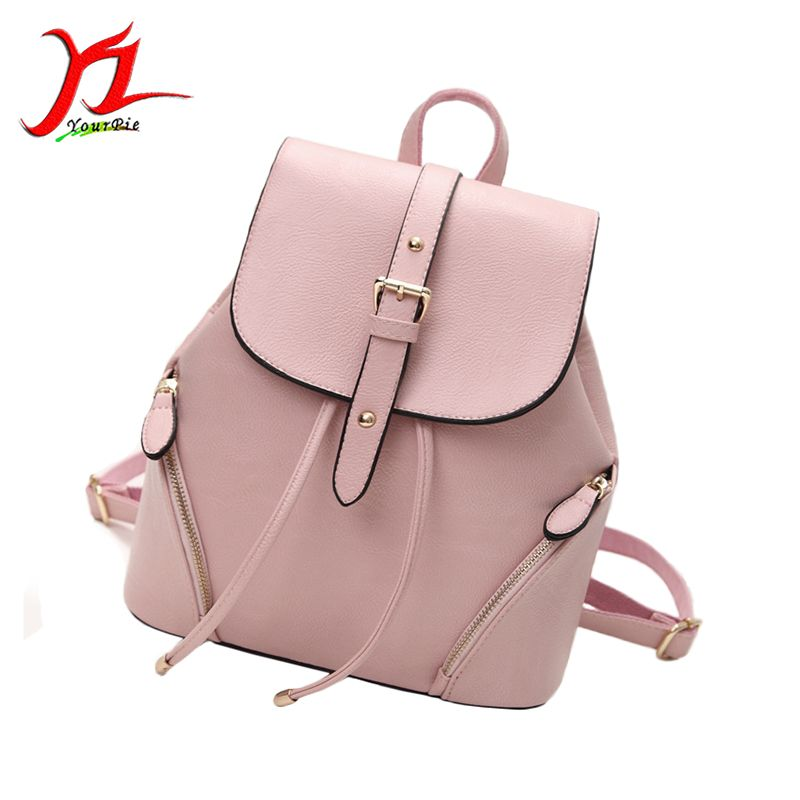 New Fashion Cute Students PU Leather Flap Cover Buckle Backpack ...
