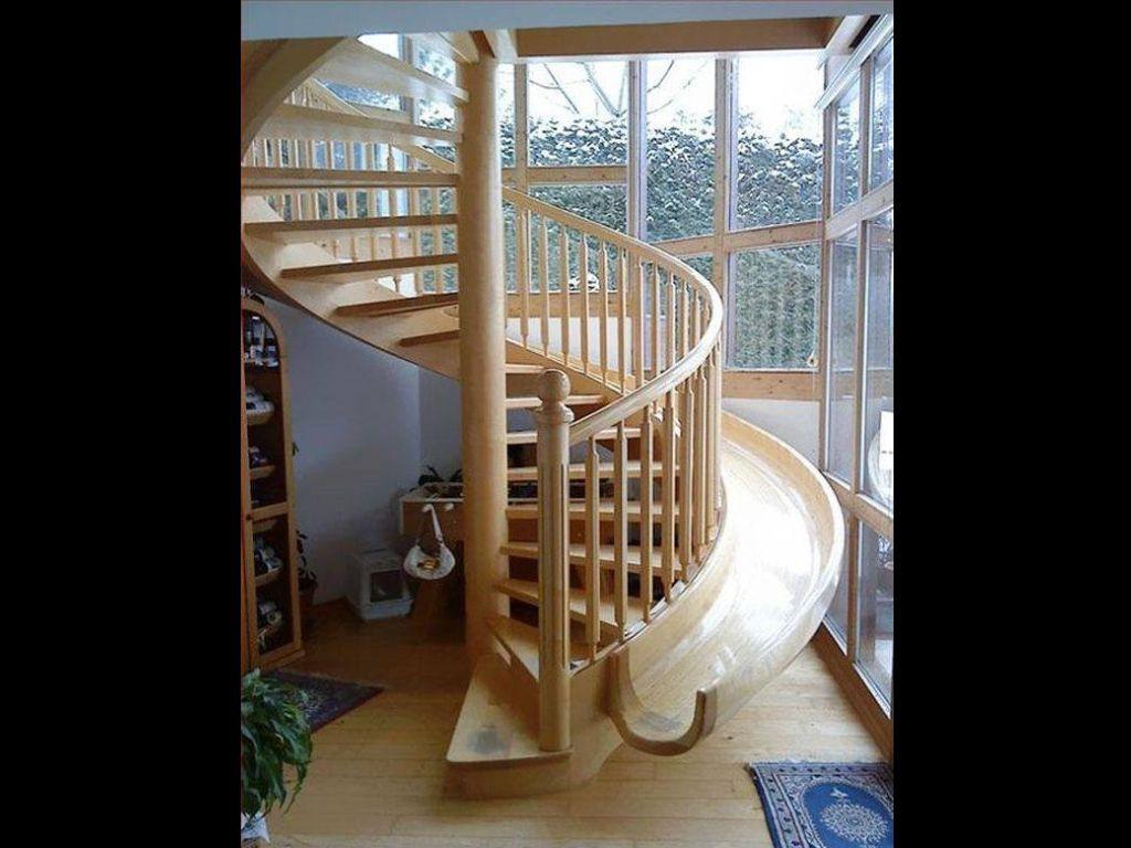 Escalier/toboggan
