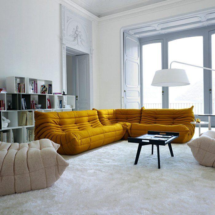 Les Beaux Decors Avec Le Canape Togo Legendaire Archzine Fr Canape Design Italien Canape Design Canape Italien