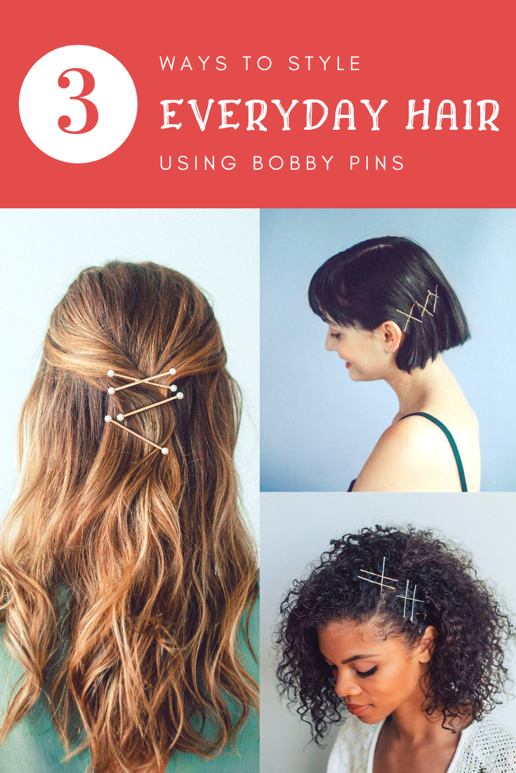 How To Style Everyday Hair With Bobby Pins With Kitsch Hair Accessories Kitsch Hair Styles Headband Hairstyles Everyday Hairstyles