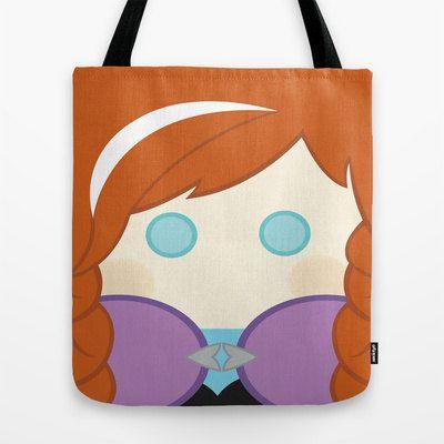 Anna Frozen tote bag bag by telahmarie on Etsy, $26.00