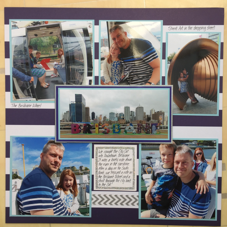 Scrapbook paper australia - Day 4 Brisbane Wheel And City Cat