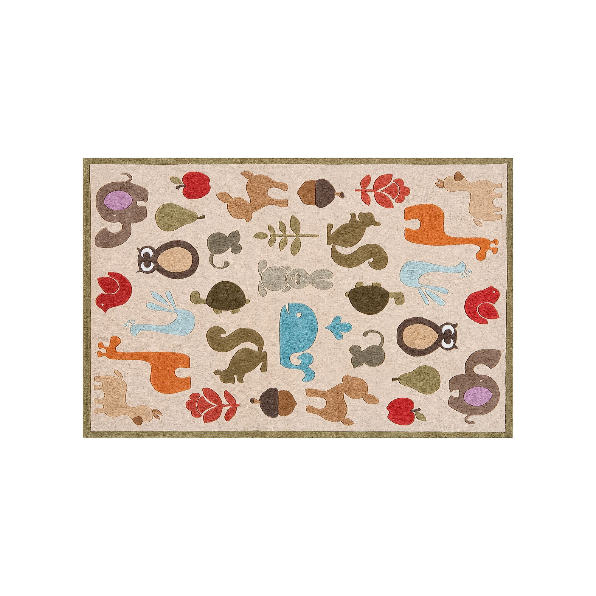 Momeni Lil Mo Whimsy Animal Rug 8 X 10 Green Products