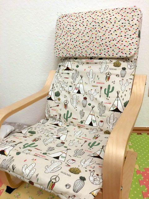 Tutorial » Bezug für Ikea Poäng Kindersessel nähen (mit