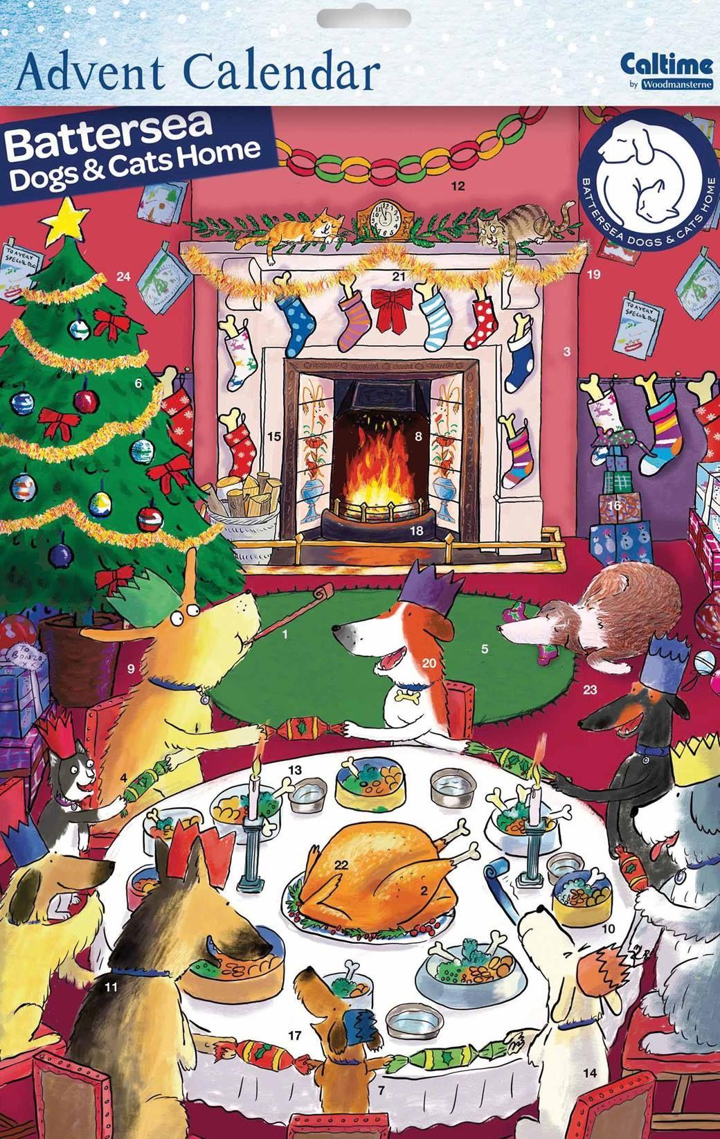 Battersea Dogs & Cats Home A3 Advent Calendar Calendar