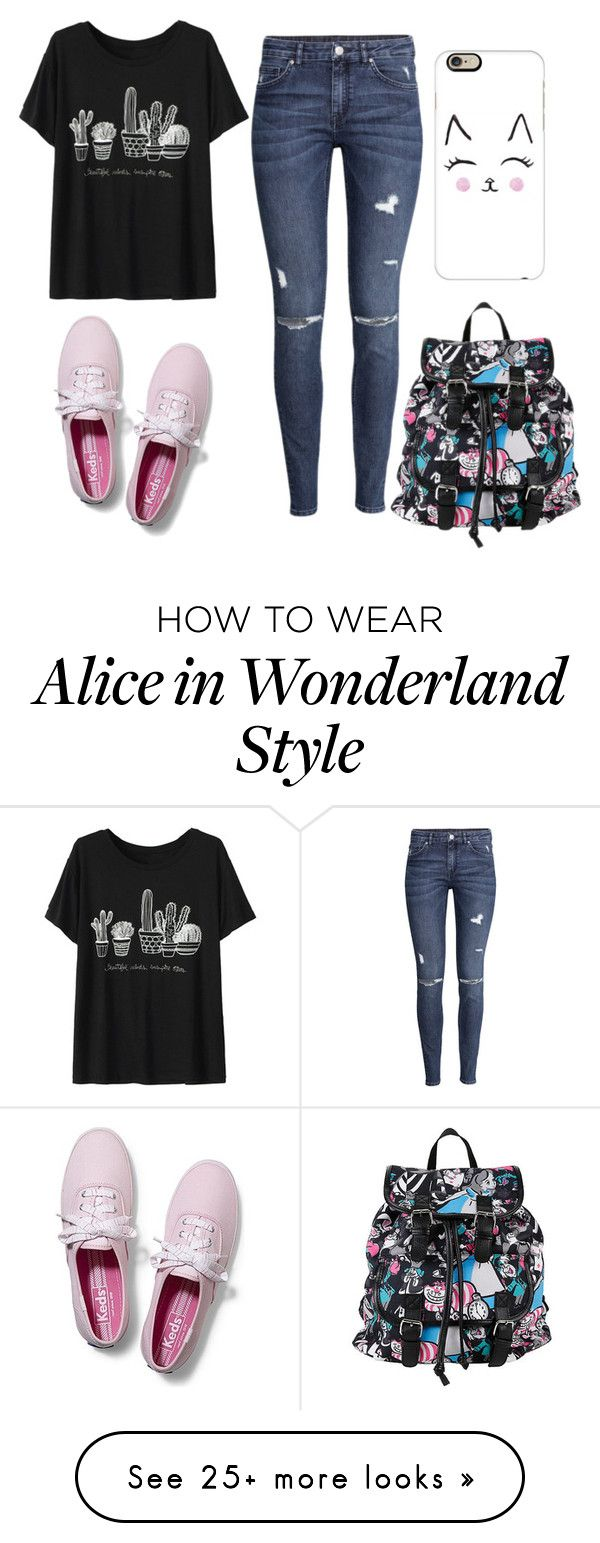 """Untitled #2"" by gavinnemarquez on Polyvore featuring moda, H&M, Keds, Disney, Casetify, women's clothing, women, female, woman e misses"