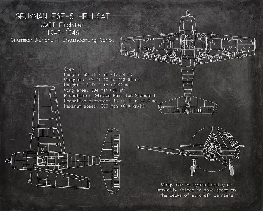 Grumman f6f5 hellcat aircraft blueprint art print digital grumman f6f5 hellcat aircraft blueprint art print digital malvernweather Gallery