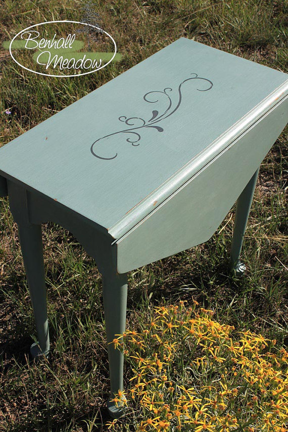 painted table drop leaf painted with annie sloan chalk paint rh pinterest com