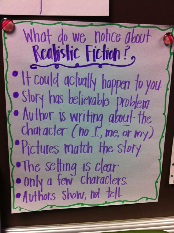Realistic fiction reading pinterest anchor charts and chart also rh