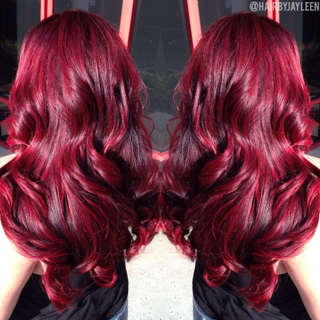 Red hair bright vibrant hair dimensional red hair big for Bright vibrant colors