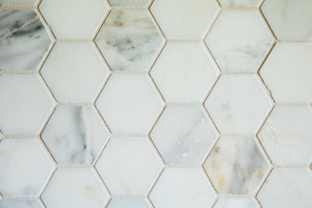 MATERIALS Backsplash Tile | Akdo Carrara Bella Hex Mosiac