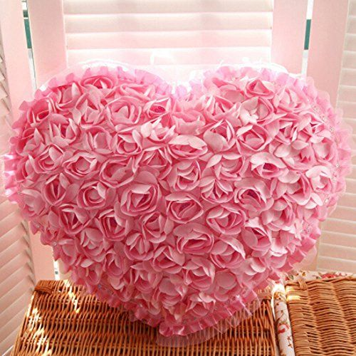 Peneric High Quality Satin Heart Rose Flower Bed Sofa Pillow Cushion Rose Flowers 15.7x13.7-inch Decorative Wedding (Pink (Rose pillow)) The RoomPalace http://www.amazon.com/dp/B00RSS8YBE/ref=cm_sw_r_pi_dp_VbyDwb1B2VJT0