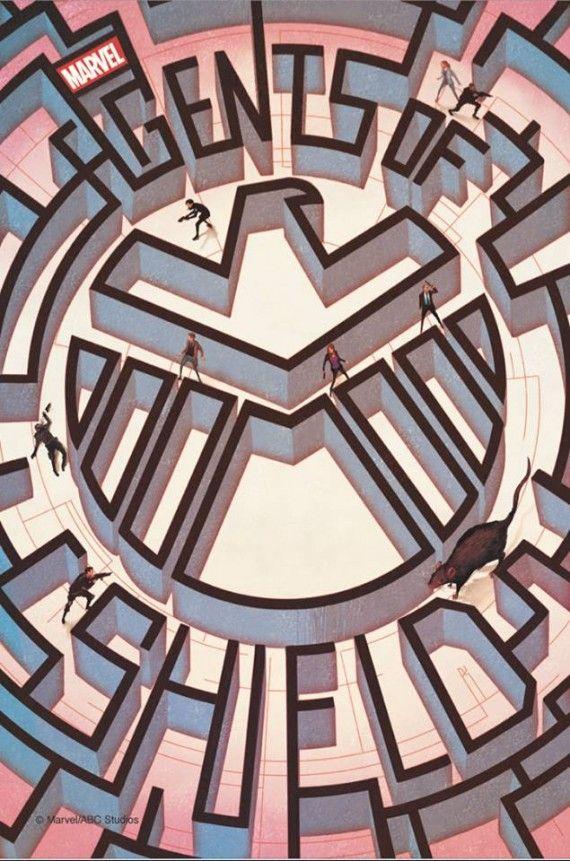 A show poster featuring a maze