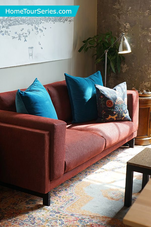 In This Living Room Makeover The IKEA Home Tour Squad Used NOCKEBY Sofa