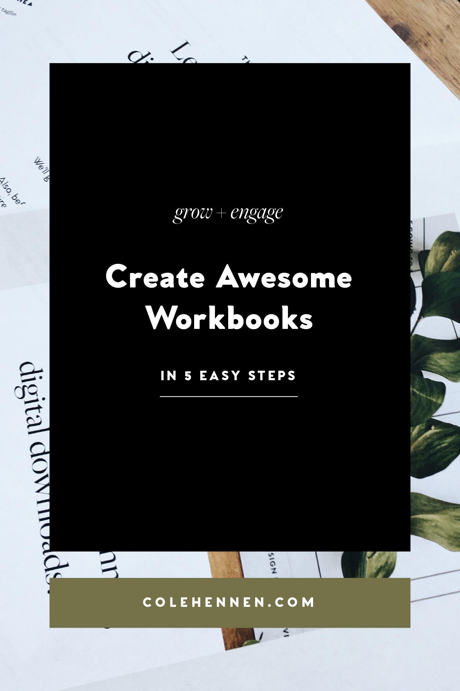 How To Create Incredible Workbooks