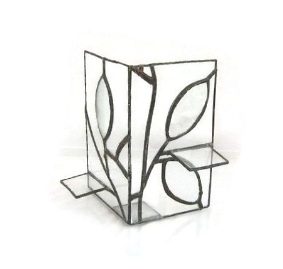 Hey, I found this really awesome Etsy listing at https://www.etsy.com/listing/125383954/vintage-stained-glass-candle-holder