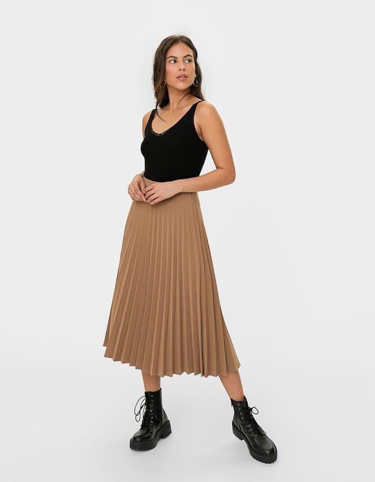0d17035d4 Pleated skirt in 2019 | fashion | Pleated skirt, Skirts, Midi skirt