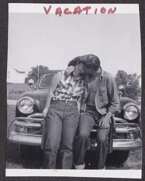 Theniftyfifties A Kissing Couple 1950s