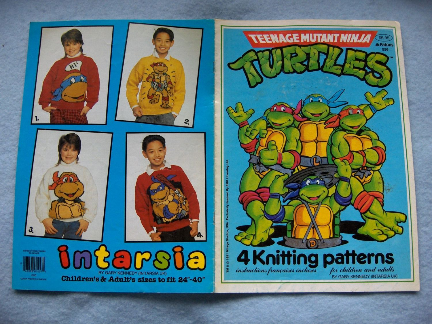 Intarsia knitting patterns 1991 teenage mutant ninja turtles ...