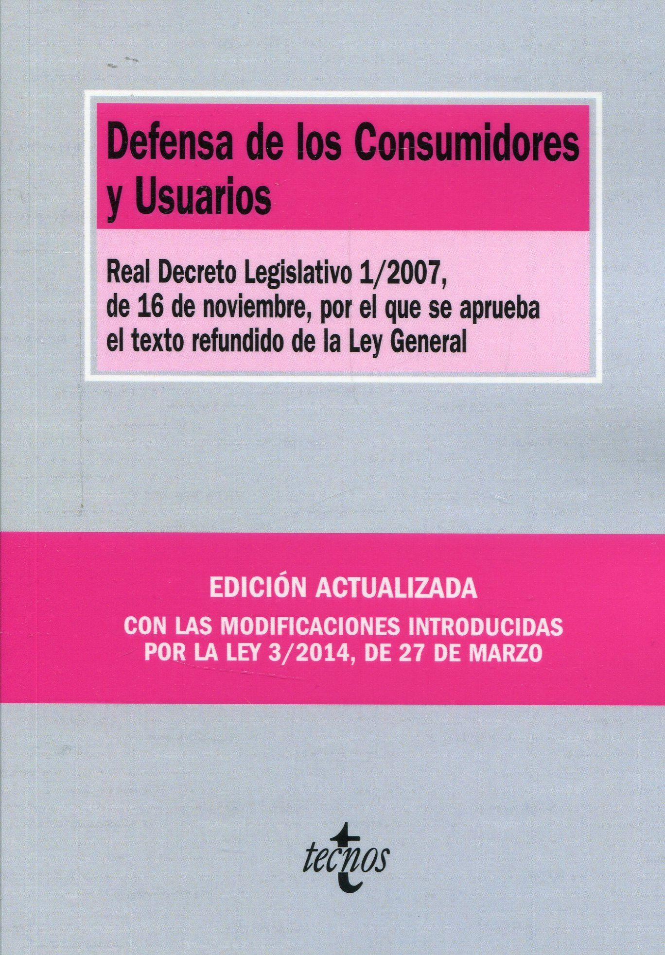 Resultado de imagen de texto refundido de la ley de consumidores y usuarios