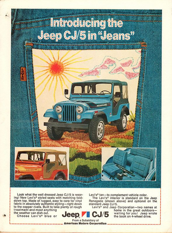 1975 Jeep Cj5 Levis Edition Advertisement Motor Trend December
