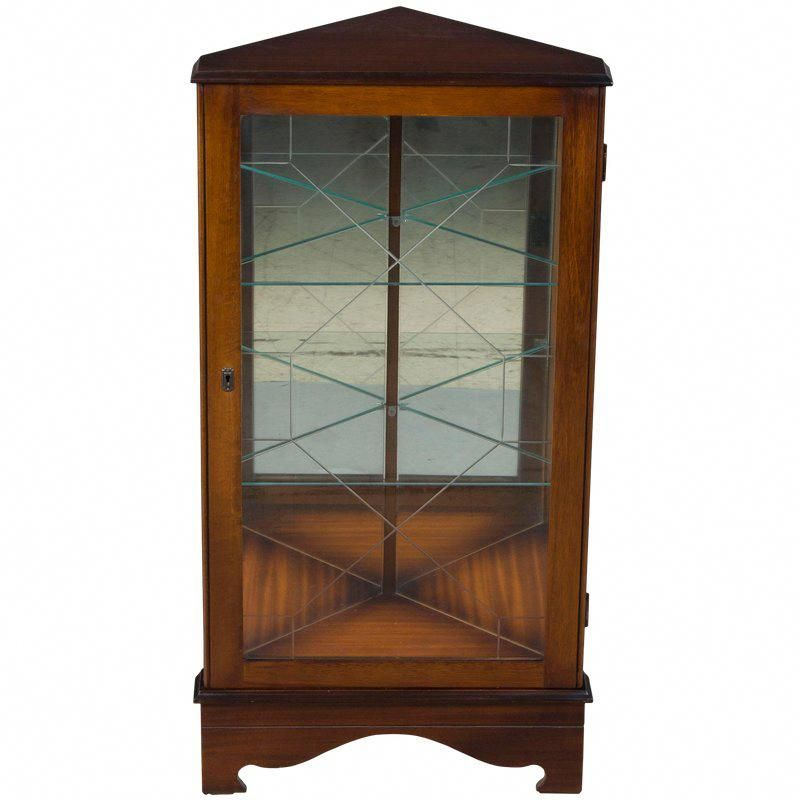 Etched Glass Door Cabinet Doors, Short China Cabinet
