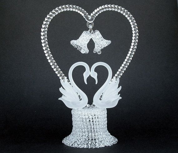 Swan Wedding Cake Toppers