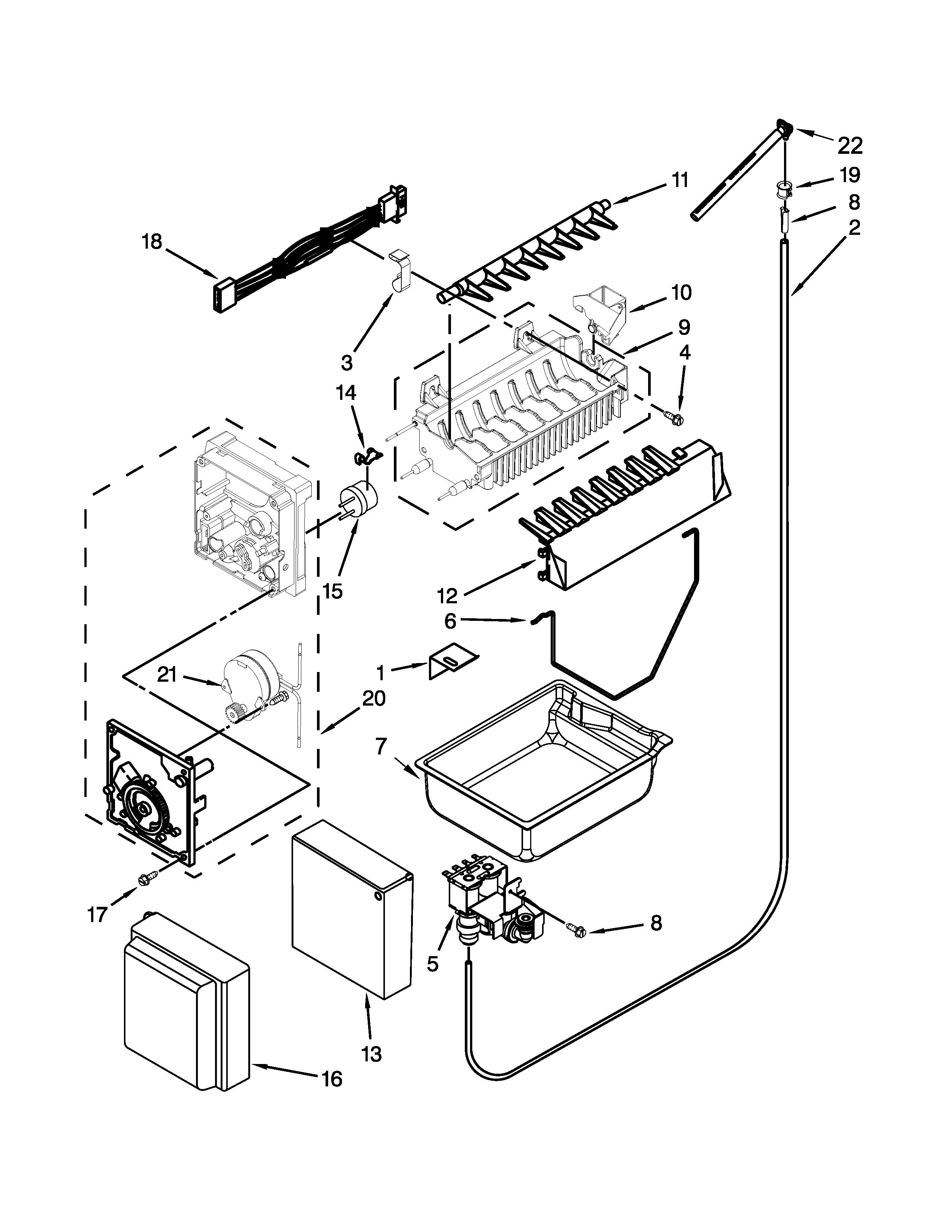 Jenn-Air model JFC2290VEM8 bottom-mount refrigerator