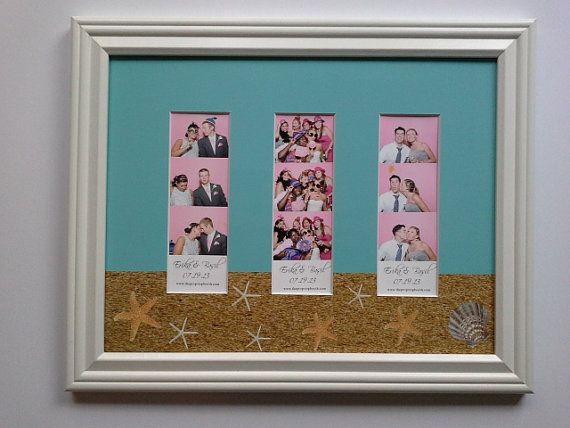 Beach Themed Photo Booth Picture Frame 10 X 13 By Pinkfishshop