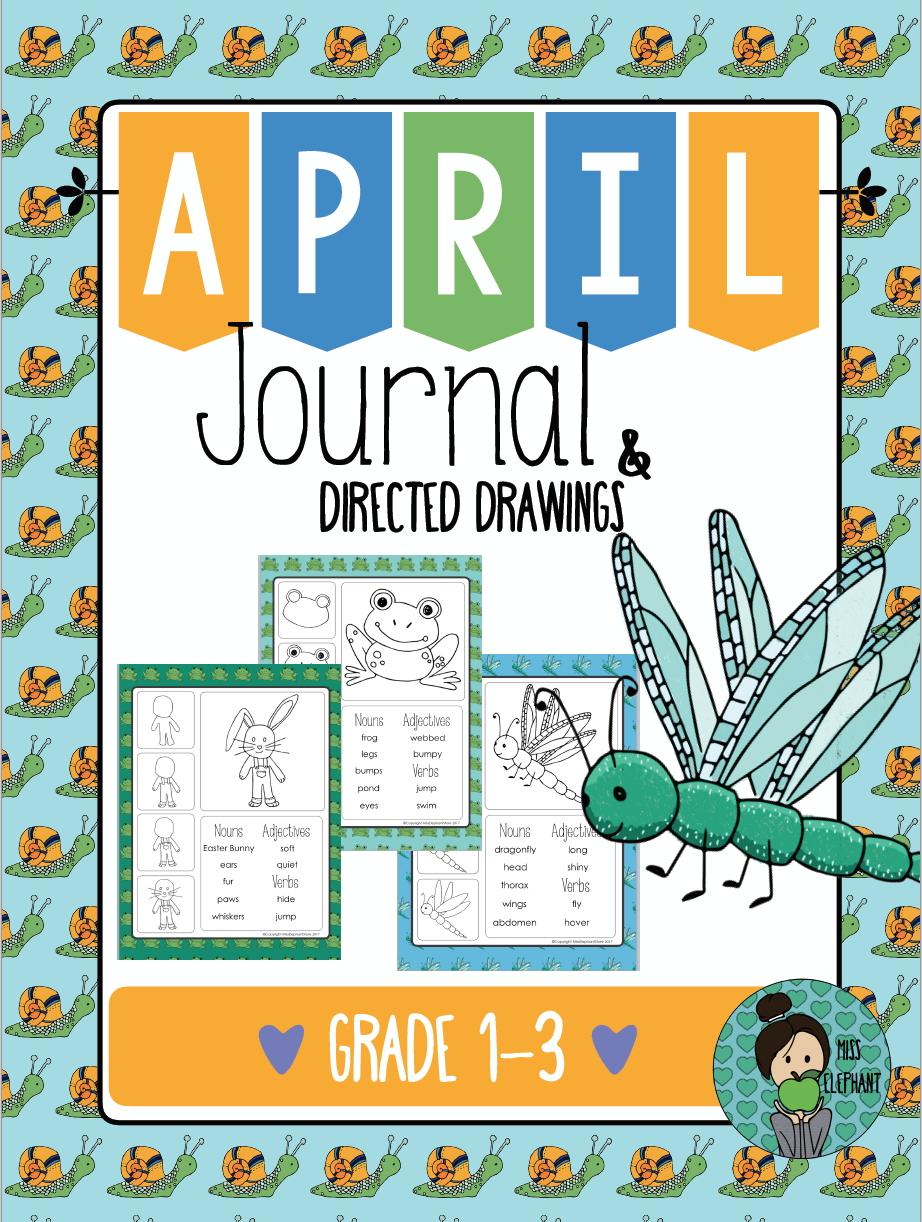 Writing prompts 2nd Grade and 3rd Grade (April) | Affirmation ...