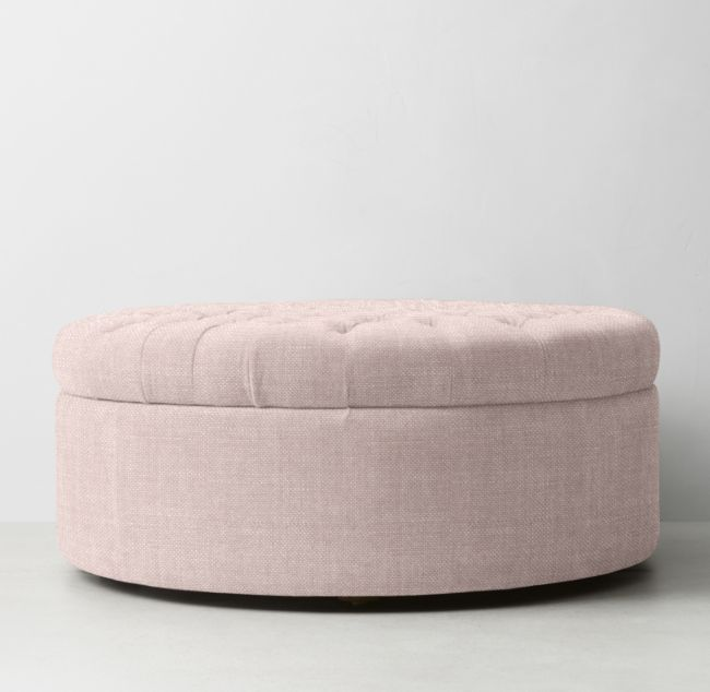 Peachy Tufted Large Round Storage Ottoman Dressing Room In 2019 Bralicious Painted Fabric Chair Ideas Braliciousco
