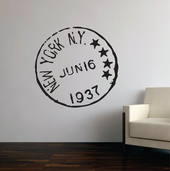 Travel Wall Decal Custom Travel Stamp Wall Decal Travel Vinyl - Custom round vinyl decals