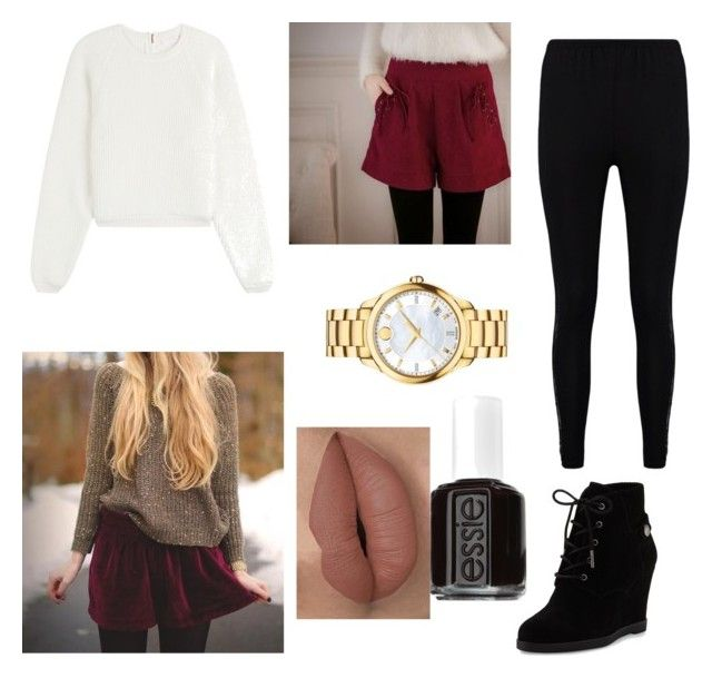 """""""Untitled #38"""" by grassthetic1212 ❤ liked on Polyvore featuring Tokyo Fashion, See by Chloé, Boohoo, MICHAEL Michael Kors, Movado and Essie"""