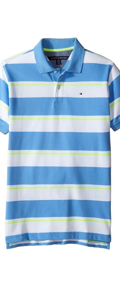 dcf333c3d773 Tommy Hilfiger Kids James Polo (Big Kids) (Summer Blue) Boy s Clothing -