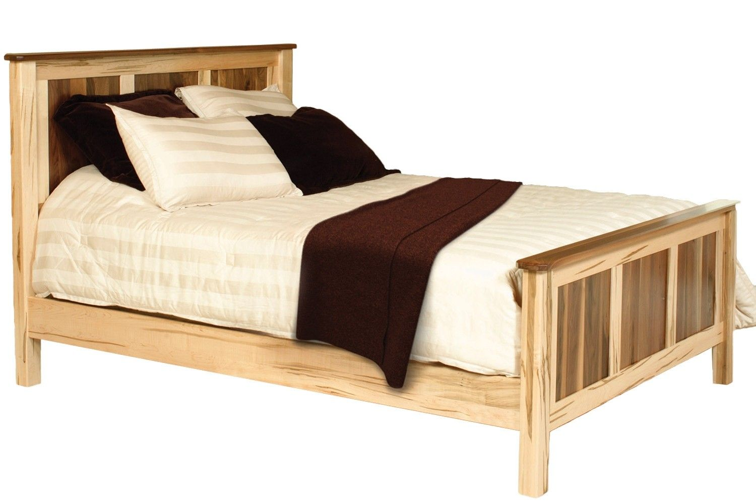 Two Tone Cornwell Natural Maple And Walnut Platform Bed Frame