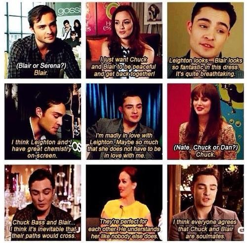 Ed Westwick and Leighton Meester talking about Gossip Girl