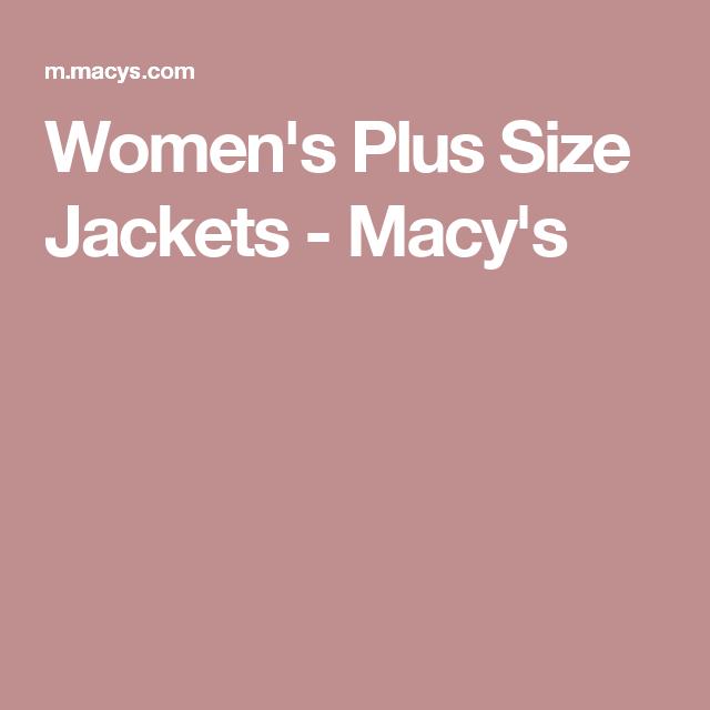 Women's Plus Size Jackets - Macy's