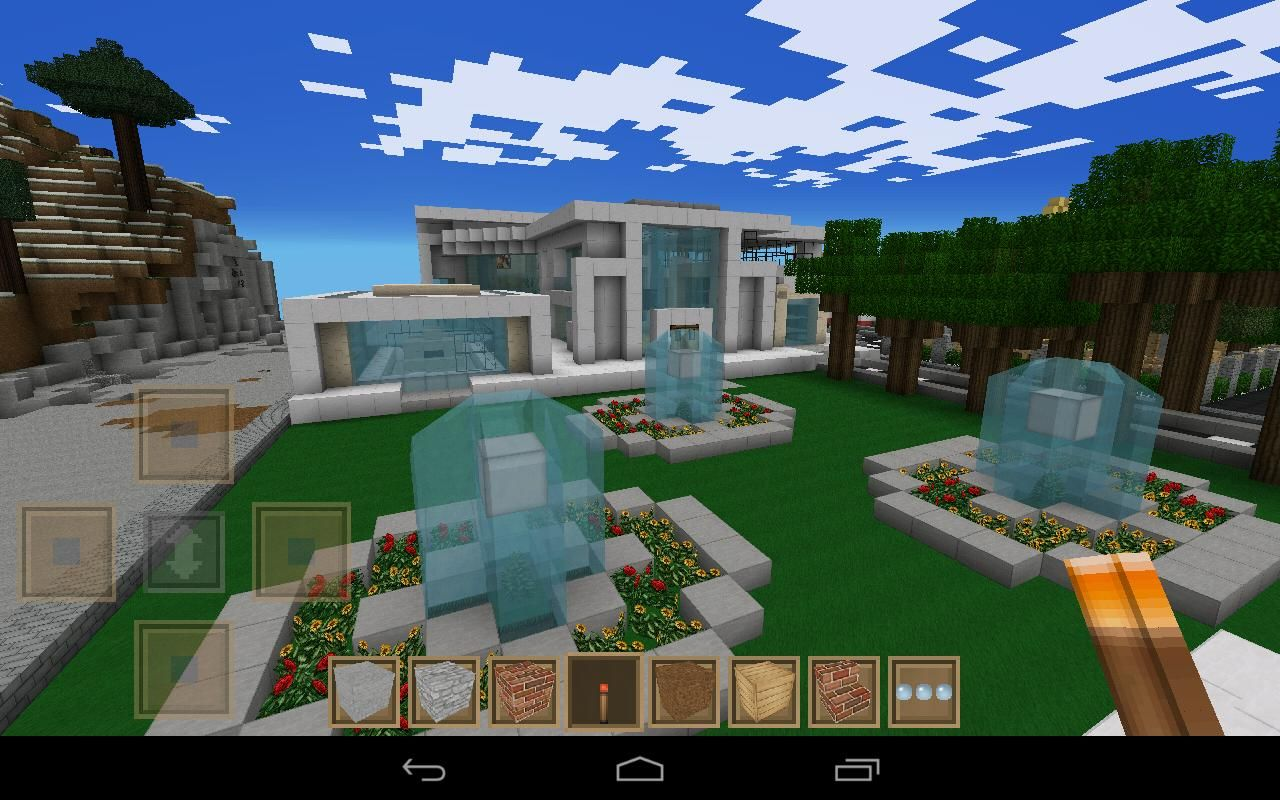 Best minecraft pe houses google search world of for Explore craft survival pe