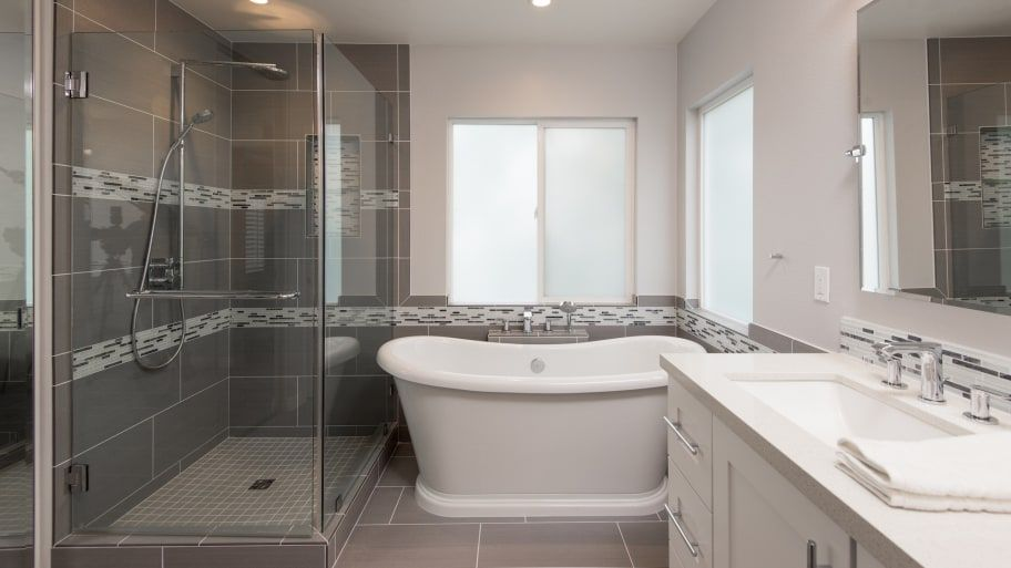Cost To Tile A Bathroom Floor Flooring Ideas In 2020 Bathroom Tile Installation Bathroom Wall Tile Small Bathroom Remodel