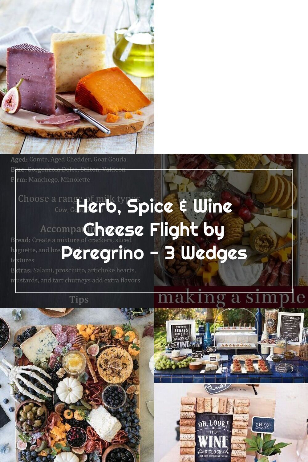Herb. Spice & Wine Cheese Flight by Peregrino - 3 Wedges in 2020 | Spiced wine. Cheese party. Wine cheese