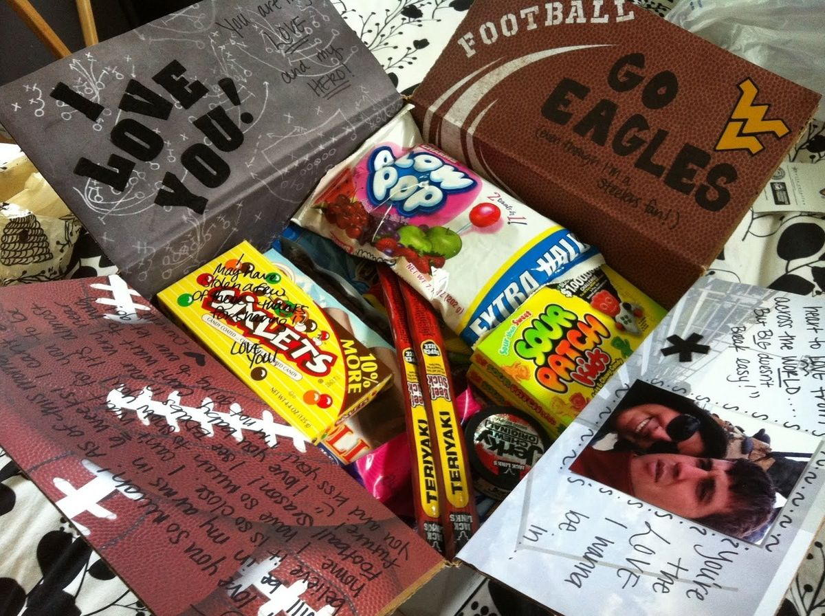 Pin By Jamie Peralez On Etc Football Care Package