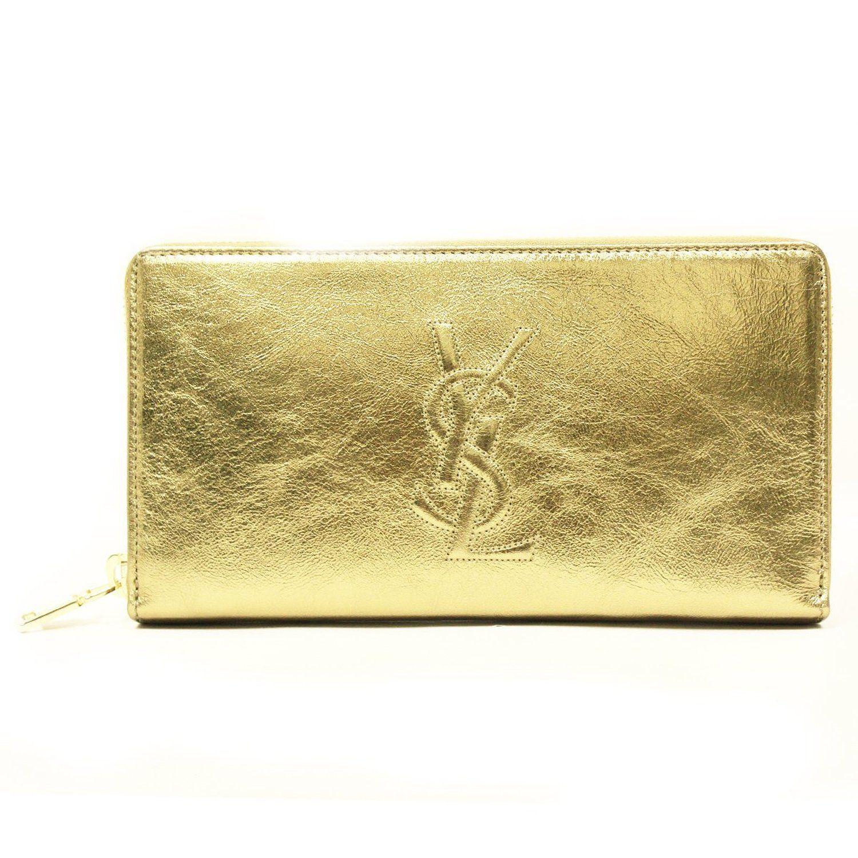 Yves Saint Laurent YSL Belle Du Jour a portafoglio in pelle, con cerniera, oro (Oro) - yslbdjzipwalletgold: Amazon.it: Valigeria