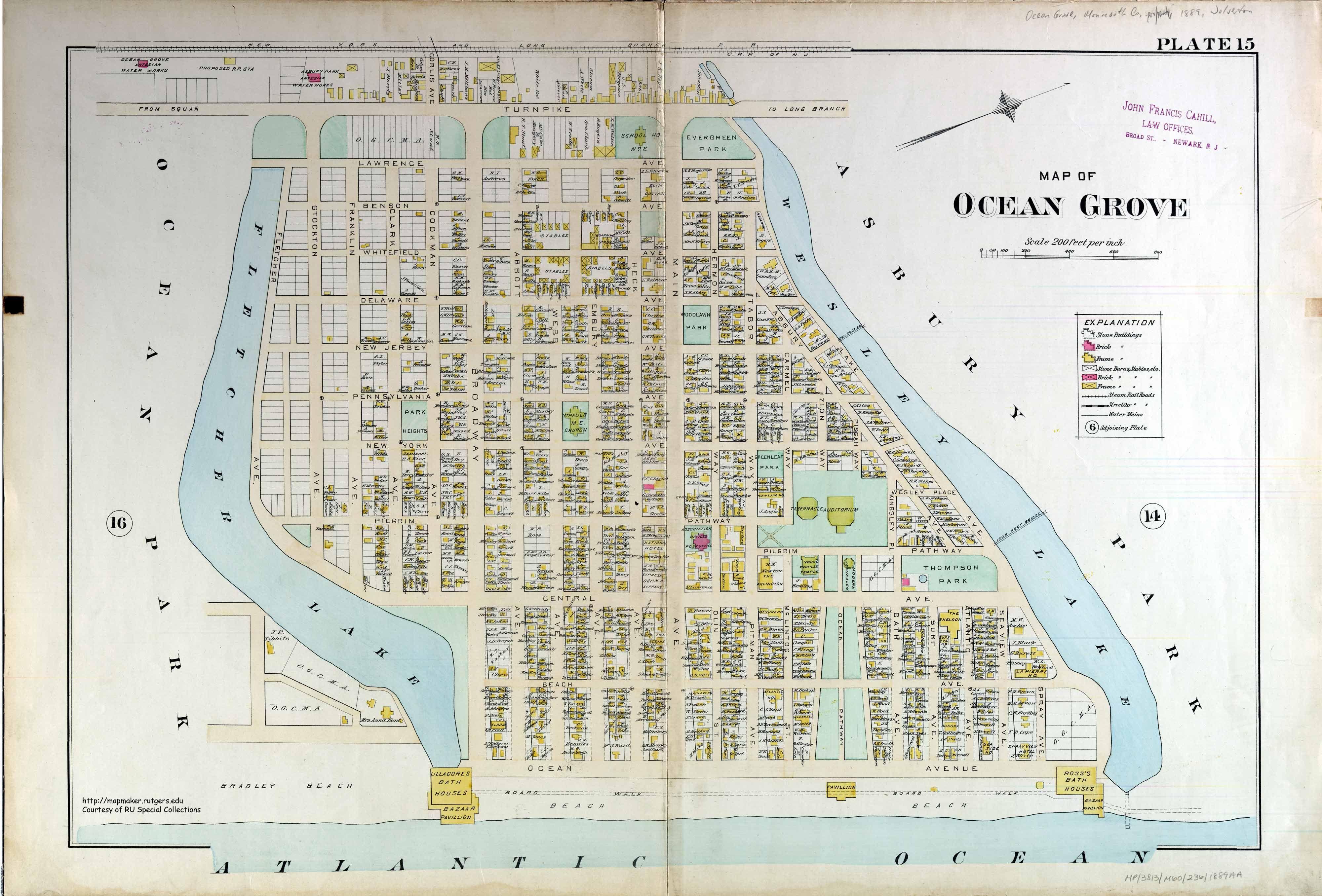 map of ocean grove nj - Google Search | geo-chic  | Beach