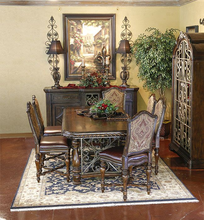 Tuscan Style Dining Room Furniture: Valencia Gathering Height Dining