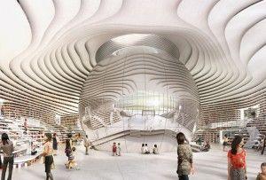 The Tianjin Binhai Library by MVRDV